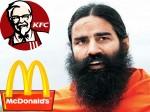 Ramdev S Patanjali Ayurved Wants Take On Mcdonald S Kfc Food In Detail