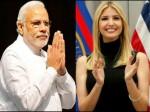 Pm Modi Meets With Ivanka Trump At Ges