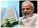 Sensex Surges 300 Points On Exit Poll Predictions