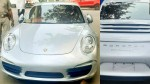Porsche 911 Car Fined 9 8 Lakh For Not Having Number Plate And Other Documents