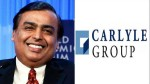 Carlyle Intalks With Ril S Retail Arm For 2 Billion Worth Stake