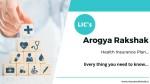Lic Aarogya Rakshak Health Insurance Eligibility Benefits Features