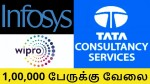 Tcs Infosys Wipro To Hire More Than 1 Lakh Freshers In Fy
