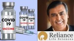 Mukesh Ambani S Reliance Life Science New Covid 19 Vaccine Approved For Phase 1 Trial