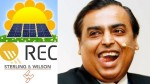 Reliance Industries Mukesh Ambani Buys Two Green Firms In One Day Rec Solar Sterling And Wilson So