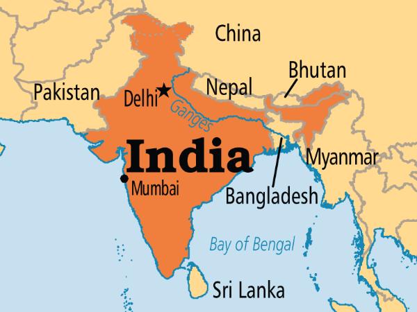 Di bawah dan di atas India
