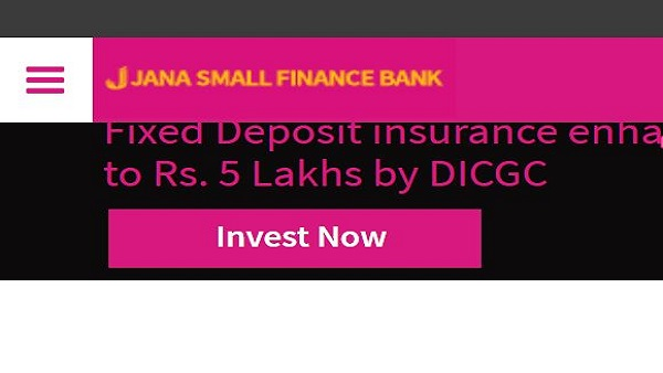 Jana Small Finance Bank latest FD interest rates
