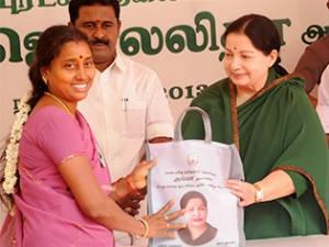 Jayalalitha Launches 20 Rupees Rice Scheme