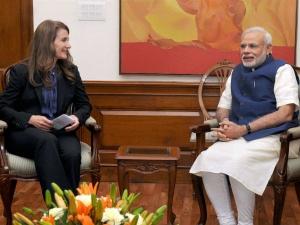 Melinda Gates Meets Pm Appreciates His Pro Poor Initiativ