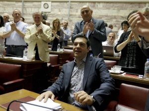 Greek Pm Wins Backing Concessions Eu Imf Give Positive Signals