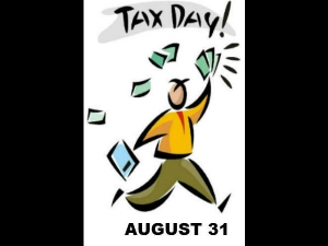 Last Day Filing Your Income Tax August