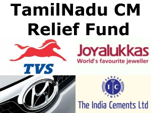 India Cements Tvs Gave 10 Crores Cm Relif Fund