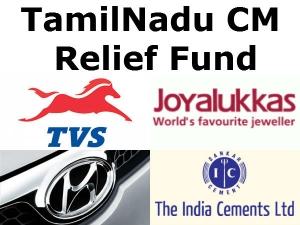 India Cements Tvs Gave 10 Crores Cm Relif Fund