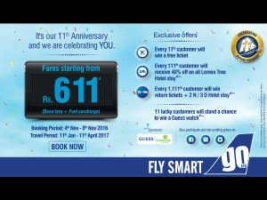 Goair On Turning 11 Flight Fares Start From Rs 611 Onwards