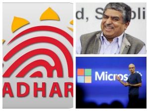 As Tech Titans Meet Satya Nadella S Qs Nandan Nilekani Talk