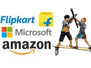 Flipkart Microsoft Forge Cloud Partnership Amazon Going Feel The Heat