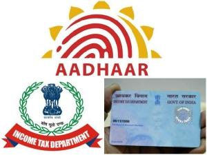 Aadhaar Be Mandatory Filing Income Tax Return Pan Application