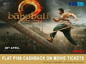 Coupon Circle Flat Rs 100 Cashback On Bahubali Movie Ticket