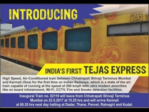 Tejas Express Fare Safety Route All You Need Know