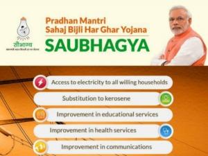 Modi Launches Saubhagya Scheme Poor Households