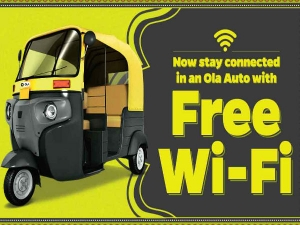 Free Wifi On The Go Ola Autorickshaws