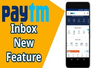 How Use Paytm Inbox Chat Transfer Money