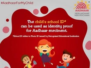 Aadhaar Children School Id Can Be Used As Identity Proof S