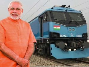 Pm Modi Flags Off India S First 12 000 Hp Electric Locomotive In Bihar