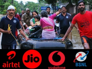 Kerala Floods Jio Airtel Vodafone Idea Bsnl Offer Free Data