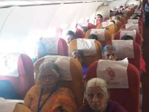 Whole Villagers Were Very Happy Flying First Time Their Life