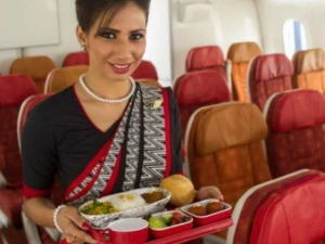 Rifad Jawaid Served Fasting Food By Air India Air Hostess Manjula In Air India Journey Plane