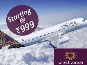 Vistara Announces Mid Summer Sale Fares Below Rs