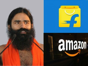 Baba Ramdev S Patanjali Tie Up With Ecommerce Gaints Amazon Flipkart