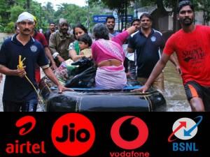 Kerala Floods Jio Airtel Vodafone Idea Bsnl Offer Free Data