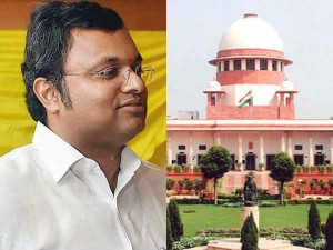 Karthi Chidambaram Is Going Foreign Country With Supreme Cou