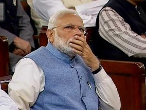 Modi S Expression During Budget Announcement