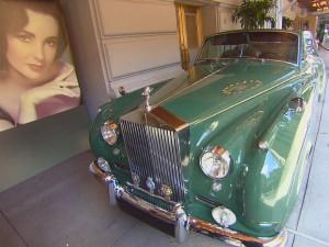 Elizabeth Taylor Green Goddess Rolls Royce Car