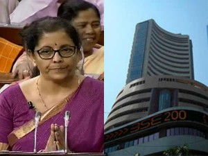 Sensex And Nse Nifty Are Oscillating With The Ongoing Budget 2019 Presentaion
