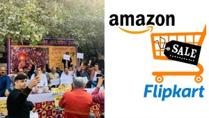 Traders Body Holds Nation Wide Protests Demands Ban On Amazon Flipkart