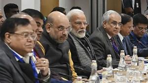 Narendra Modi Amit Shah Meet Top Economists Without Nirmala Sitharaman